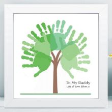 Handprint Tree in Box Frame - Unique Grandparents Gift From The Grandchildren